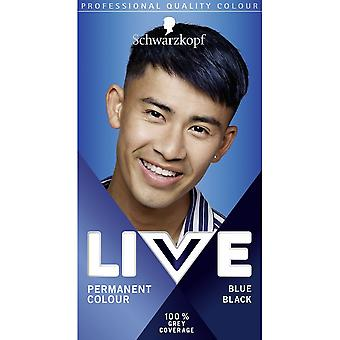 Schwarzkopf 3 X Schwarzkopf Live Permanent Hair Color For Men - Azul Preto 090