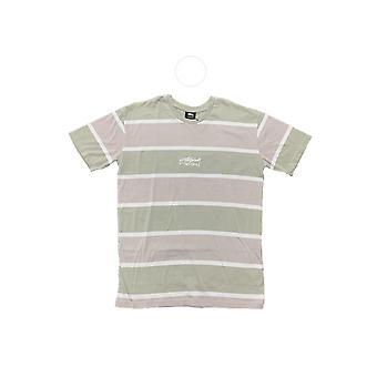 Stussy Crawford Yd Stripe Ss Tee Atmosphere Gray - Clothing