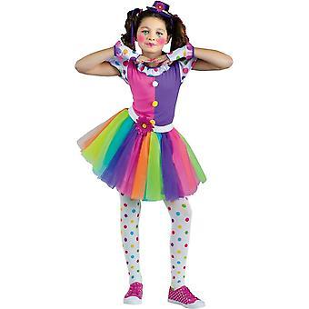 Bright Clown Costume For Girls