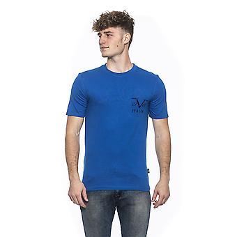19v69 الرجال الأزرق فيرساتشي تي شيرت