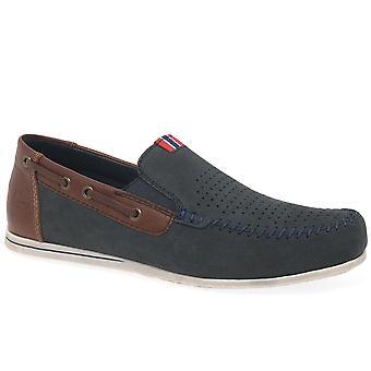 Rieker Nautic II Mens Nubuck Boat Shoes