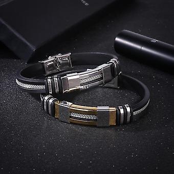 Bracelet en acier fait main de luxe pour hommes