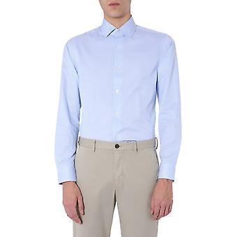 Z Zegna 705022zcsf1g Men's Light Blue Cotton Shirt