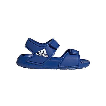 adidas AltaSwim Infant Kids Boys Summer Pool Flip Flop Sandal Blue/White