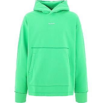 Acne Studios Bi0079brightgreen Men's Green Cotton Sweatshirt