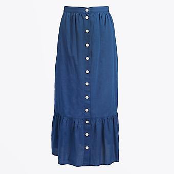 M.i.h Jeans  - Remy Ruffle Skirt - Blue Chambray