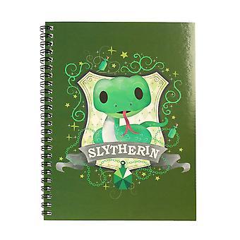 Harry Potter Notizbuch DINA 5 Pappcover Slytherin Din A 5 mit Spiralbindung und Pappcover 200 Seiten, liniert.