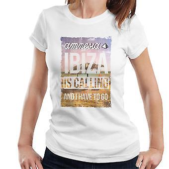 Amnesia Ibiza kalder kvinders T-shirt