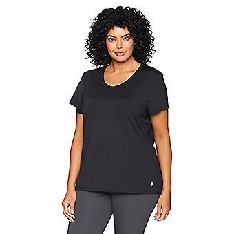 Merk - Core 10 Women's Fitted Run Tech Mesh Short Sleeve T-shirt, Bla...