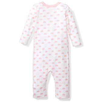 Moon and Back Baby Set of 2 Organic Long-Sleeve Snap-Shoulder Coveralls, Pink...