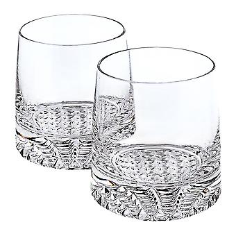 Mouth Blown European Crystal Whiskey Set 4 Pc Rocks or DOF Set