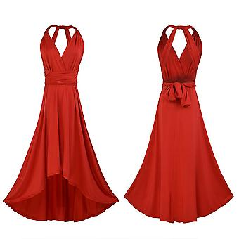 Womens Multiway Wrap Wedding Convertible Evening Party Gown