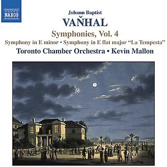 J.B. Vanhal - Vanhal: Symphonies, Vol. 4 [CD] USA import