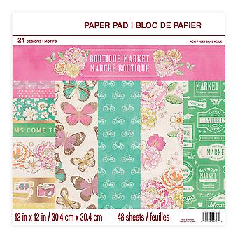 Craft Smith Boutique Market 12x12 Inch Paper Pad