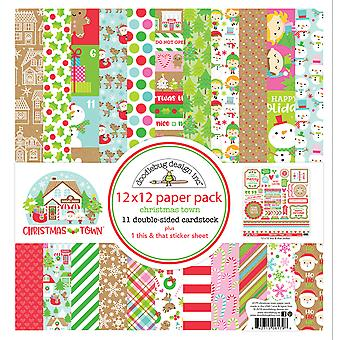 Doodlebug Design Christmas Town 12x12 Inch Paper Pack