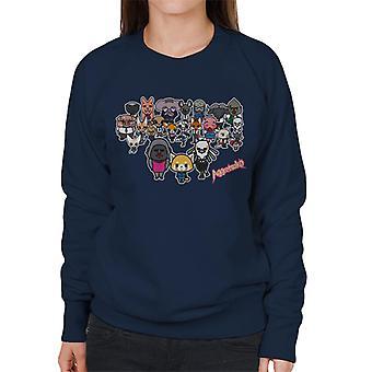 Aggretsuko Alle Tegn Kvinner's Sweatshirt