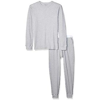 أساسيات الرجال & apos;ق الحرارية مجموعة الملابس الداخلية الطويلة, هيذر غراي, كبيرة