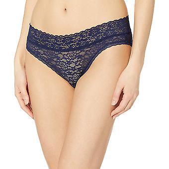 Essentials Women's 4-Pack Lace Stretch Bikini Panty, Blue & Pink, L