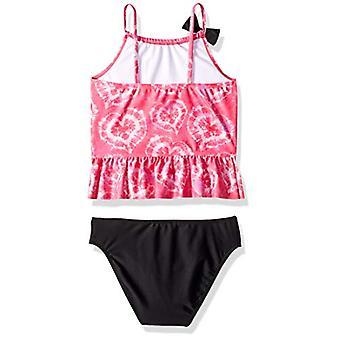 Jessica Simpson Little Girls-apos; Ensemble de maillots de bain Tankini à deux pièces, Fuchsia Tiedye, 5
