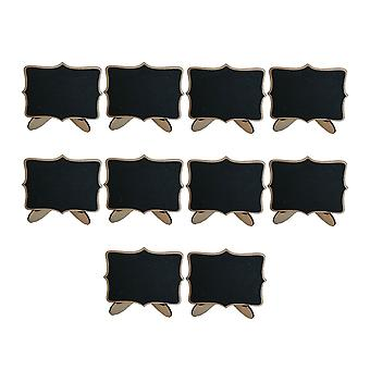 10PCS Wooden Crafts Mini Blackboards with Corner