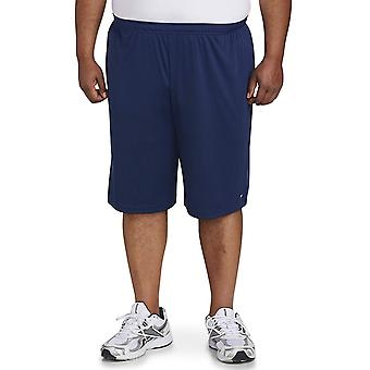Essentials Men's Big & Tall 2-Pack Performance Shorts, Medium Gray/ Nav...