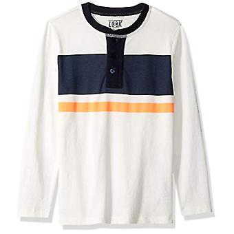 / J. Crew Brand- LOOK by Crewcuts Boys' Long Sleeve Henley, Ivory/Navy ...