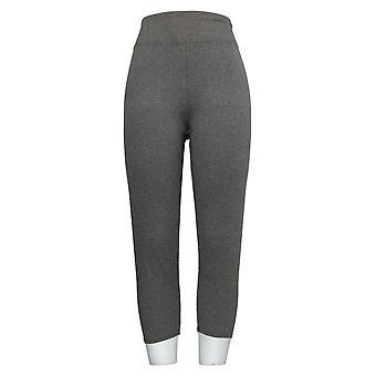 Cuddl Duds Leggings Flexwear Cropped Heather Gray A373534
