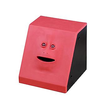 Cute Face Bank Money Safe, Eats Sensor Coin Box For Money Saving