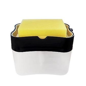 Kuchnia Łazienka Clean 2 W 1 Pompa Mydło Dozownik ręczne prasy płynna gąbka rack z gąbką Hotel Toaleta Mycie