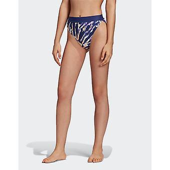Neue adidas Originals Frauen's Tie Dye High Waist Bikini Bottoms Multi Coloured