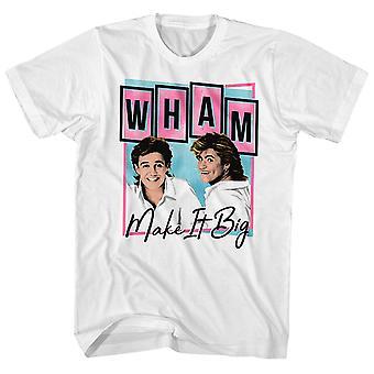 Wham! T-shirt make it big pastel album Art Wham! Shirt