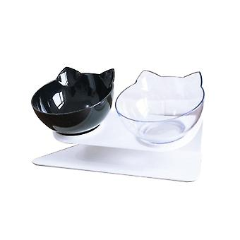 Non-slip, Double Bowls With Raised Stand - Food And Water Bowls For Cats / Dogs