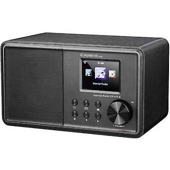 Albrecht DR 470 N راديو مكتب الإنترنت FM AUX، DLNA، واي فاي، راديو الإنترنت DLNA متوافق مع الأسود