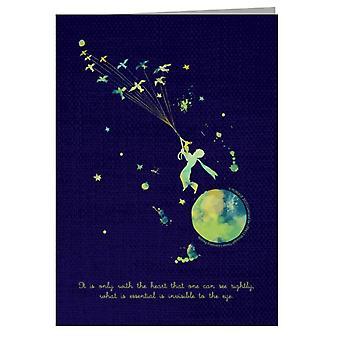 Der kleine Prinz Farbe Splat Herz Zitat Grußkarte