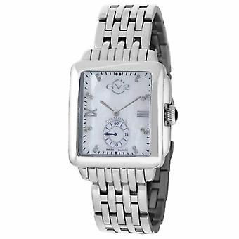 GV2-kehittäjä: Gevril Women's 9200 Bari Rectangle MOP Dial Stainless Steel Wristwatch