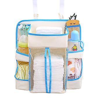 Baby Bed Hanging Organizer , Waterproof Baby Diapers Portable Storage Bag