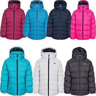 Trespass Unisex Kids Amira Full Zip Padded Winter Hooded Waterproof Jacket Coat