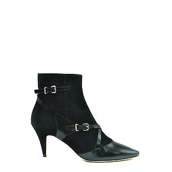 Tod's Ezbc025136 Women's Black Suede Ankle Boots