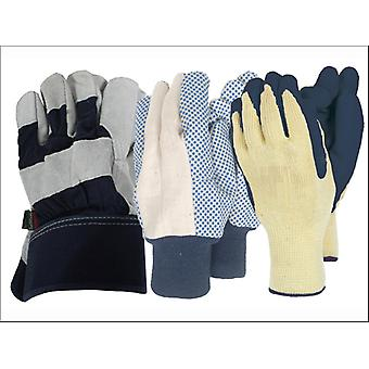 Town & Country Gents Gloves x 3 TGl584
