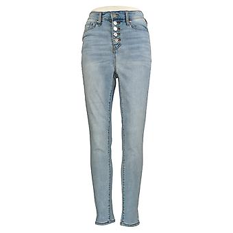 All Worthy Hunter McGrady Women's Jeans Skinny Ankle Button Blue A378411