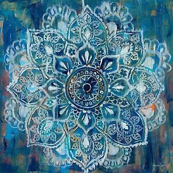 Mandala i blå II plakat Print af Nai Danhui
