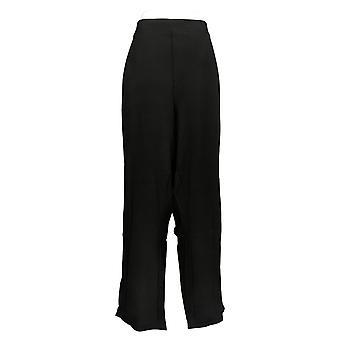 DG2 di Diane Gilman Pantaloni Petite Pantaloni Neri Tasche Posteriori Rayon 732-054