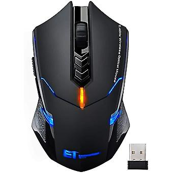 Wireless mouse, victsing 2.4g usb cordless optical gaming & office ergonomic mice with 7 quiet click
