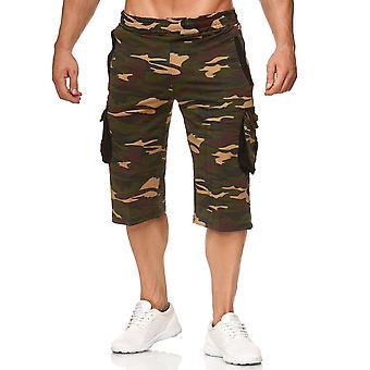 Men's Cargo Bermuda Pants Elasticated Jogger Sweat Camouflage Jogging Shorts