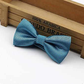 Enfants Polyester Bow Tie Classic Solid Color Butterfly Wedding Party Necktie
