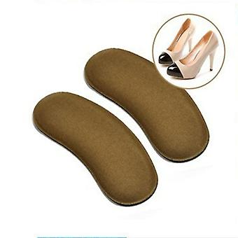 1pair Sticky Fabric Shoe Heel Inserts Insoles Pads Cushion Liner Anti-slip