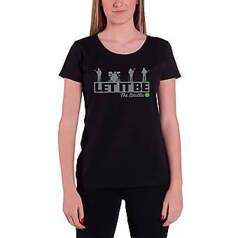 Beatles T-paita anna sen katolla virallinen naisten uusi musta laiha sovi