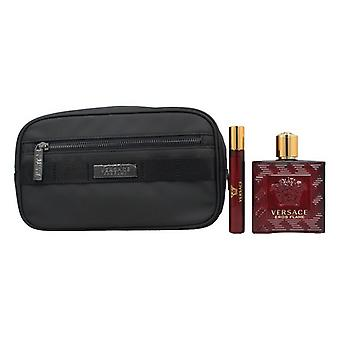 Men's Parfum Set Eros Flame Versace EDP (3 buc)