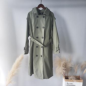 Toppies Trench Coat, Spring Women Double Brasted Windbreaker Long Jacket