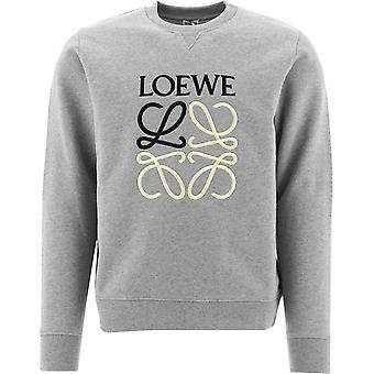 Loewe H526y24j011440 Men's Grey Cotton Sweatshirt